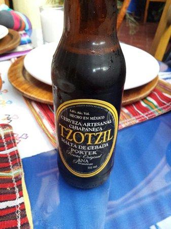 El Fogon de Jovel: Cerveza artesanal oscura