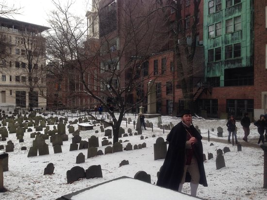 Freedom Trail: Stop at the graveyard where some famous people who made history are buried.