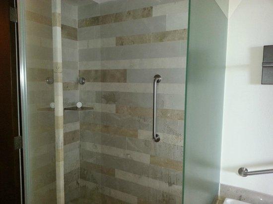 Now Amber Puerto Vallarta: Shower in bathroom