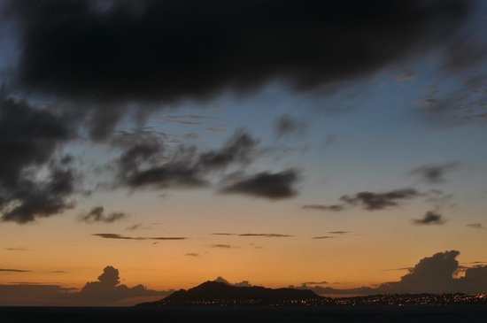 Oahu Photography Tours : Sunset over Diamond Head