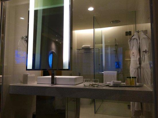 DoubleTree by Hilton Hotel Kuala Lumpur: See-through to bathroom
