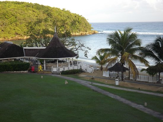 Couples Sans Souci: View from our balcony, shows the Bella Vista Restaurant and bar