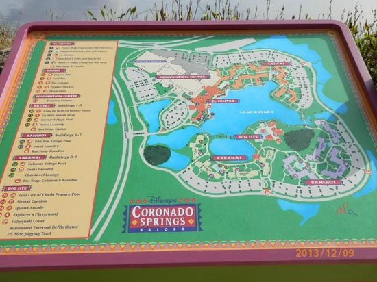 Disney's Coronado Springs Resort: Map
