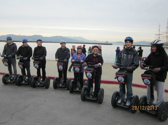 City Segway Tours San Francisco: Of course it was not possible to take photos of the fun we had whilst on the Segways!