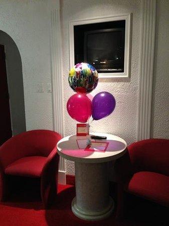 Paradise Stream Resort: my birthday bouquet