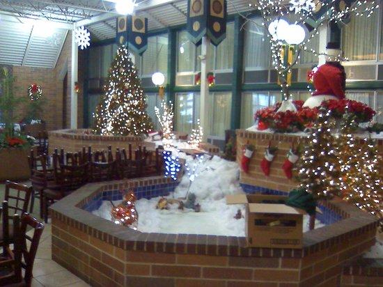 Holiday Inn Fond Du Lac: Fountain decorated for Christmas