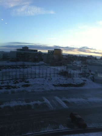 Hilton Reykjavik Nordica: View from room without sea view.