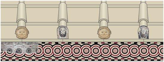 Museo archeologico di Naxos : ricostruzione elementi decorativi