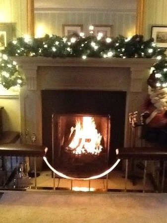 Lovely warm fire at the Bridge Hotel Buttermere