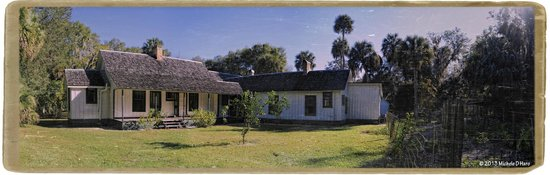 Marjorie Kinnan Rawlings Historic State Park: Panorama of Marjories house from the rear.