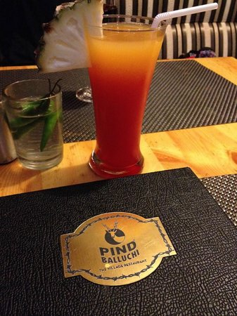 Pind Balluchi: Fun drink menu - this one was non-alcoholic