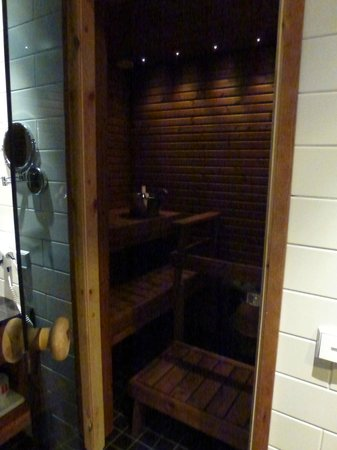 Santa's Hotel Tunturi: Sauna in bathroom