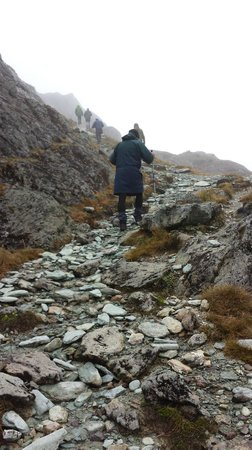 Routeburn Track Hiking Tour - New Zealand Breeze: The track is sometimes rough