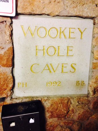 Wookey Hole caves plaque
