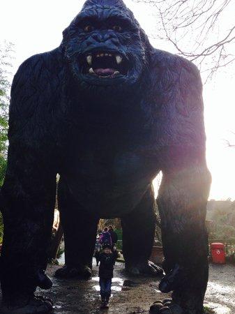 Wookey Hole Caves : Wookey Holw giant Gorilla