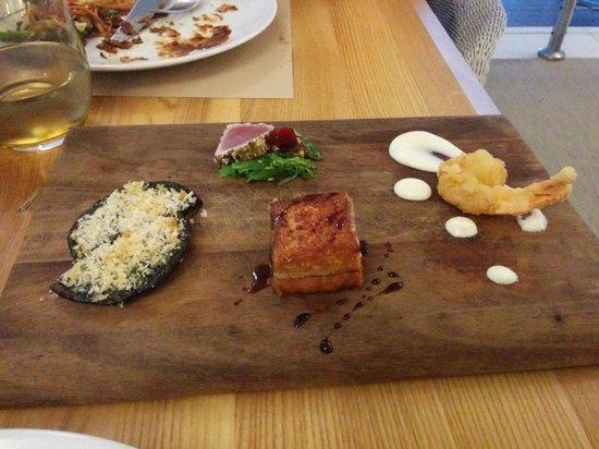 Bazaar: Tasting platter (pork belly to overdone)