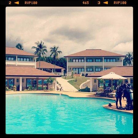 Salamangka Beach and Dive Resort : Beach, Looking back at the Resort