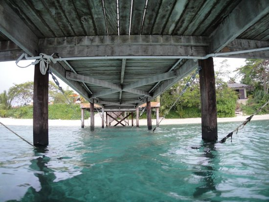 The Havannah, Vanuatu : Under Jetty