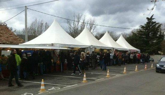 Toinou : Affluence à l'étal d'Aix en Provence