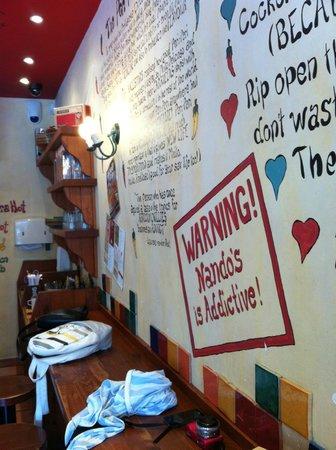 Nando's: Inside the restaurant