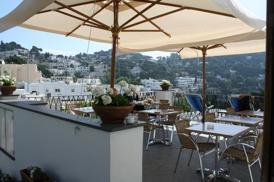 Hotel La Tosca: Breakfast Terrace