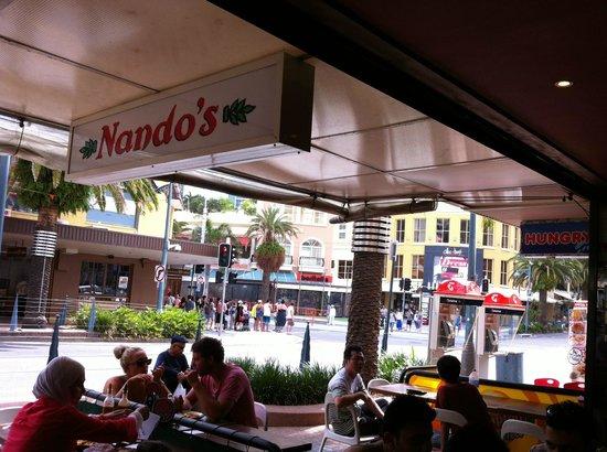 Nando's: Outside the restaurant
