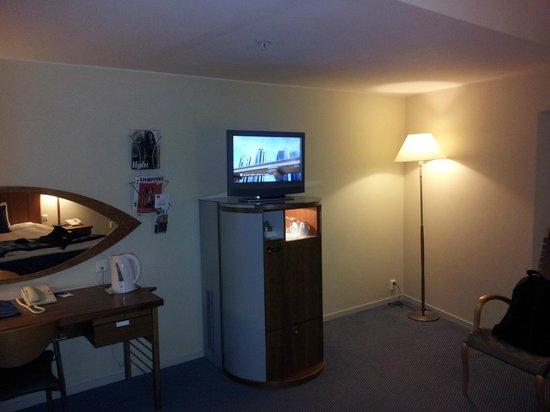 Radisson Blu Airport Hotel, Oslo Gardermoen : Tv oppåminibaren