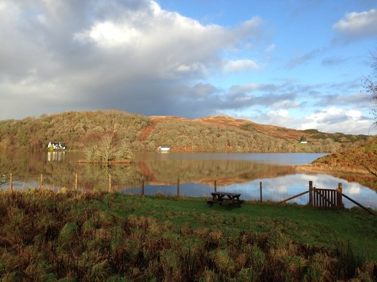 Clan Cottages: View from the cottage over the loch