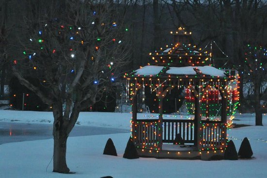 Koziar's Christmas Village: Gazebo by the Lake