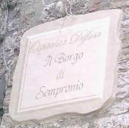 Il Borgo di Sempronio : l'insegna