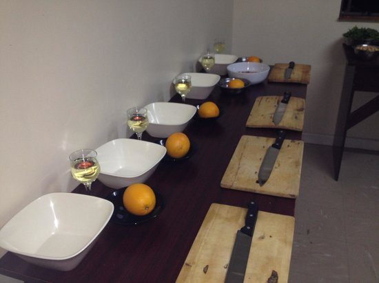 The Lemon Grass Cooking Class: Class set up for group packages.