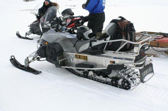 Hurtigruten Svalbard: The scooter we had on our trip to Elveneset