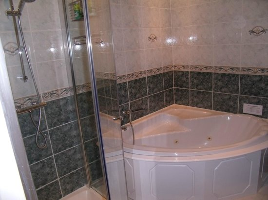 Hoscar Cottage Bed and Breakfast : Shower cubicle and bath/jacuzzi