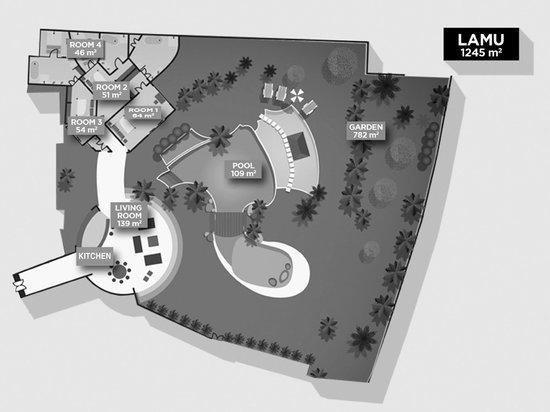 Taman Wana Ayurvedic Luxury Hotel and Villas in Seminyak : VILLA LAMU FLOOR PLAN