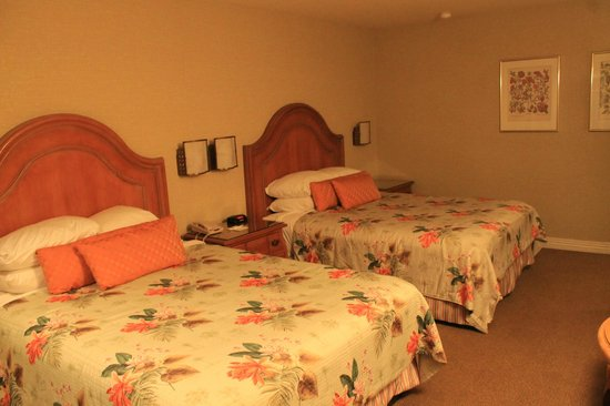 Candy Cane Inn: Twin double beds