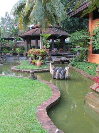 Holiday Garden Hotel : jardin