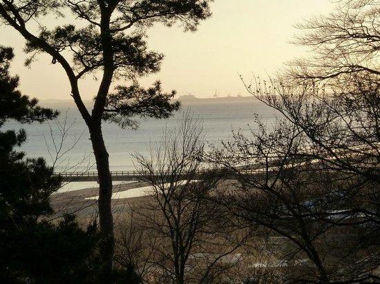 Travel Charme Strandhotel Bansin: Balkonaussicht über die Seebrücke bis nach Swinemünde