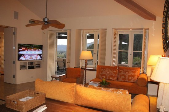 Auberge du Soleil: Balcony and large flat screen TV