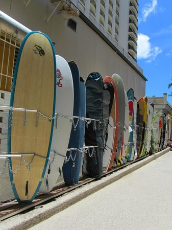 Honolulu, HI: Surfboard Storage, Waikiki Beach