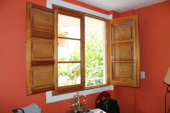 Posada Nueva España: Our windows looking onto the courtyard