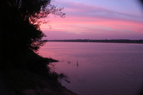 Mekong Bamboo Hut : sunset from the teras