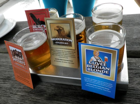 Mt Tamborine Brewery: Taster Tray with Name cards