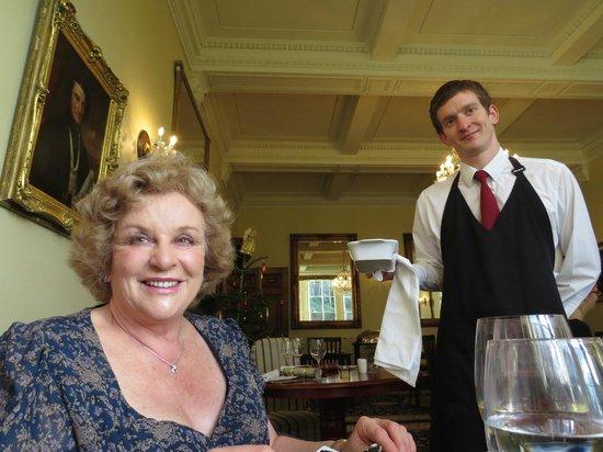 Nanteos Mansion: A regular diner with waiter Chris