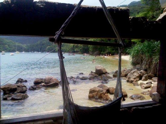 Aquario Hostel: Vista desde el quincho hacia la playa