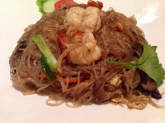 Signature Fine Dining and The Garden Bistro: Glass noodles with seafood