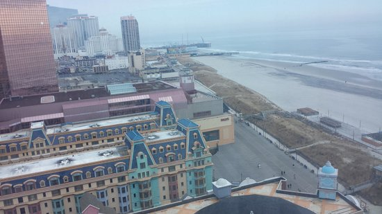 Caesars Atlantic City: View from the room overlooking the boardwalk.
