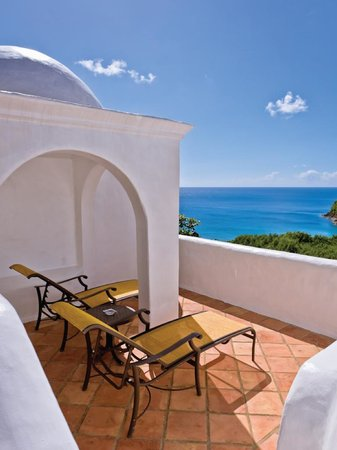 Windjammer Landing Villa Beach Resort : View and private sundeck does not get better than this
