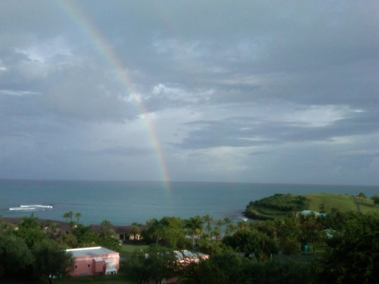 The Buccaneer St Croix : Rainbow view from our room balcony