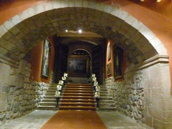 Belmond Hotel Monasterio: Hallway from the Chapel to the main hotel & garden
