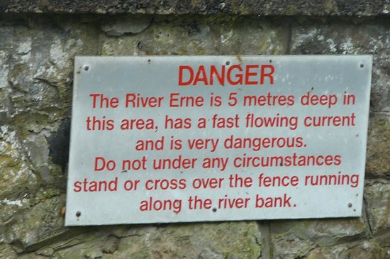 River Erne right in front of Belleek Pottery & Visitor Centre